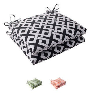 Pillow Perfect Outdoor Boxin Squared Seat Cushion (Set of 2)