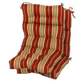 3-section Contemporary Outdoor Roma Stripe High Back Chair Cushion (Set of 2)
