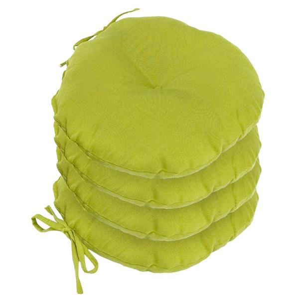 15 inch Round Outdoor Kiwi Bistro Chair Cushion Set of 4