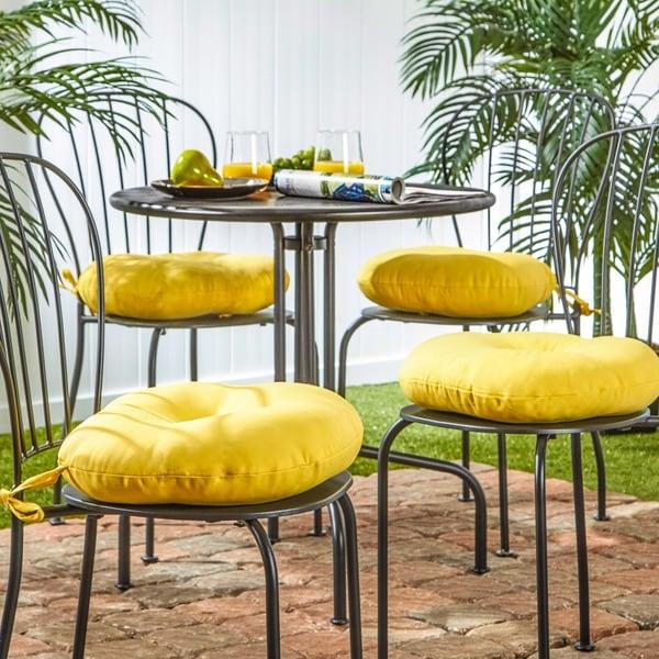15 Inch Round Outdoor Sunbeam Bistro Chair Cushion (Set Of 4)