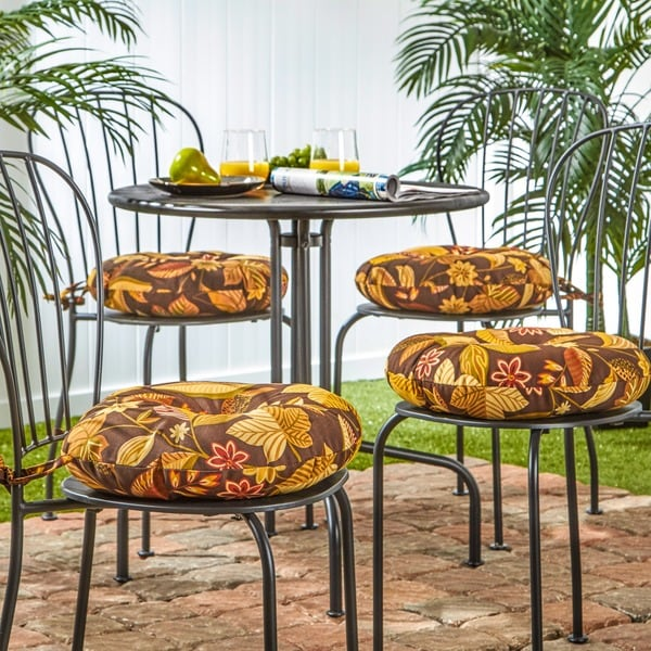 15 Inch Round Outdoor Timberland Floral Bistro Chair