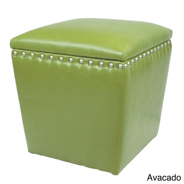 Arlington Split Leather Storage Ottoman