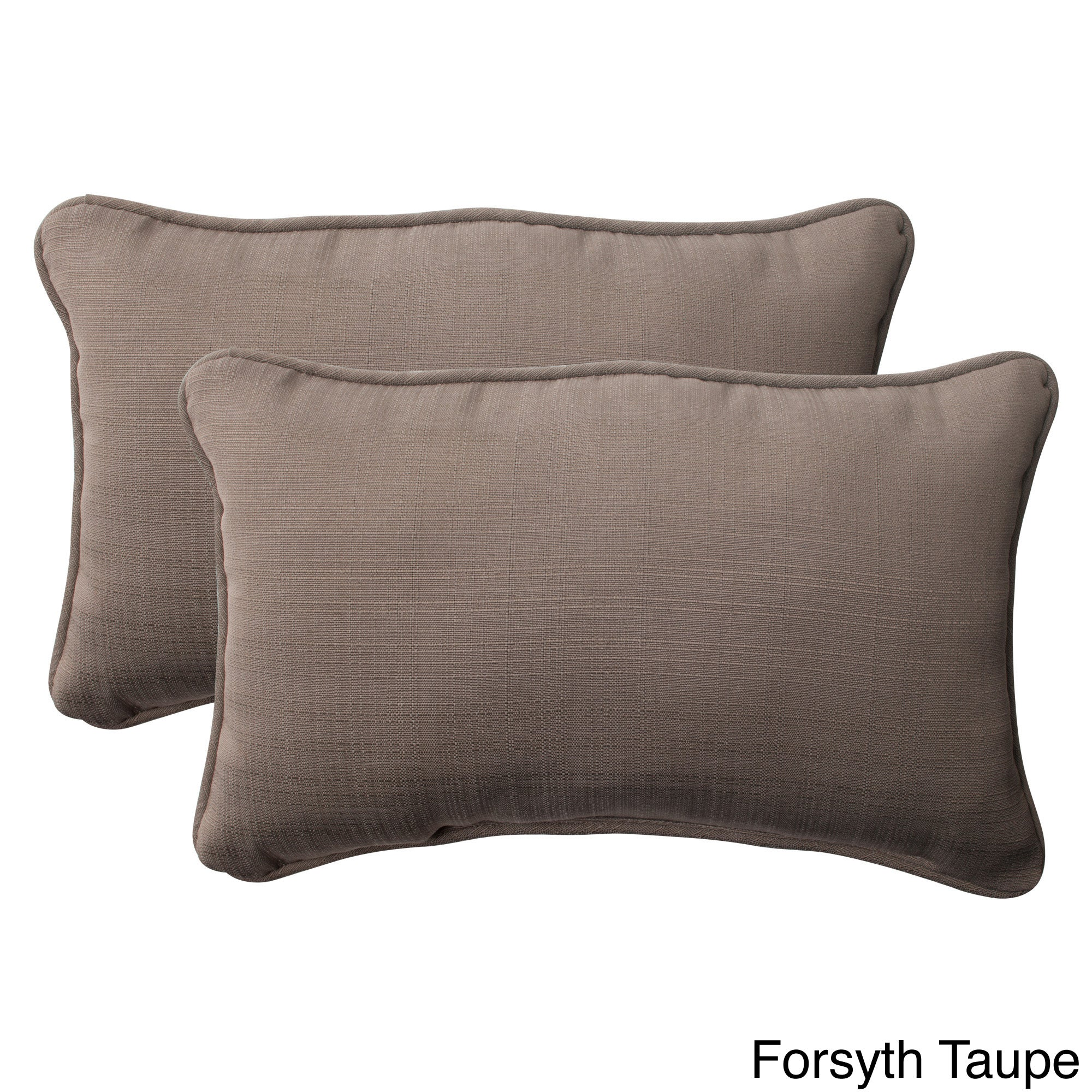 18.5-Inch Set of 2 Taupe Pillow Perfect Indoor//Outdoor Forsyth Corded Throw Pillow