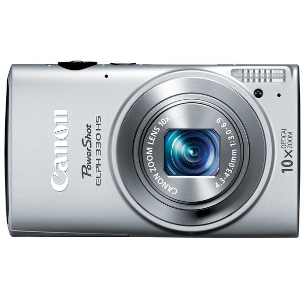 Canon PowerShot 330HS 12.1MP Silver Digital Camera