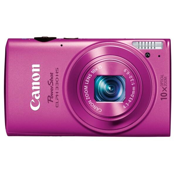 Canon PowerShot 330HS 12.1MP Pink Digital Camera