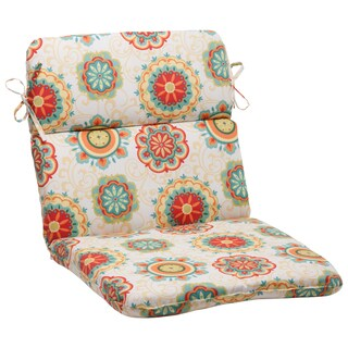 Pillow Perfect Outdoor Fairington Aqua Rounded Chair Cushion