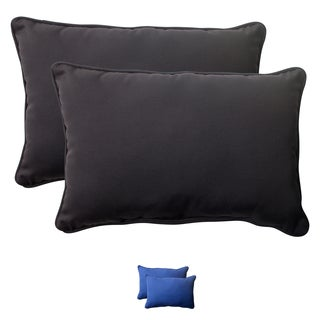 Pillow Perfect Outdoor Fresco Oversized Corded Rectangular Throw Pillow (Set of 2)