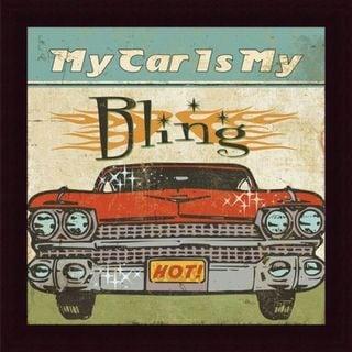 Mancave II 'My Car is My Bling' Framed Print