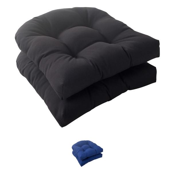 Pillow Perfect Outdoor Fresco Wicker Seat Cushion (Set of 2)
