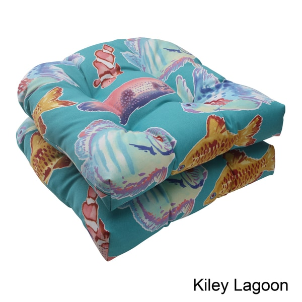 Pillow Perfect Outdoor Kiley Wicker Seat Cushion (Set of 2)