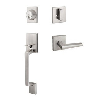 Sure-Loc Modern Handleset with Square Interior Trim