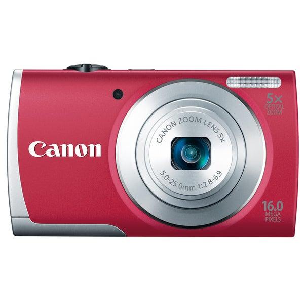 Canon PowerShot A2600 16MP Red Digital Camera