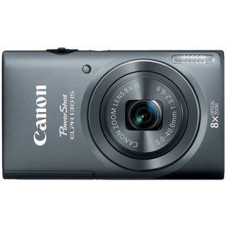 Canon PowerShot ELPH 130IS 16MP Gray Digital Camera