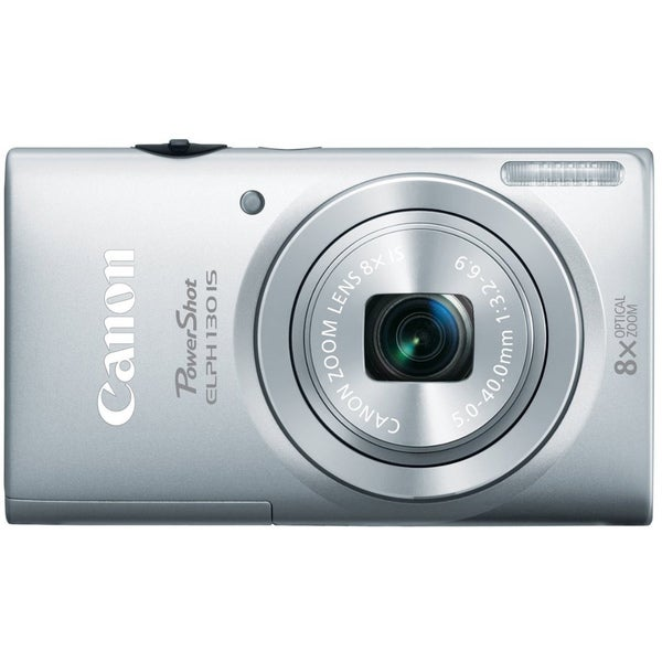 Canon PowerShot ELPH 130IS 16MP Silver Digital Camera