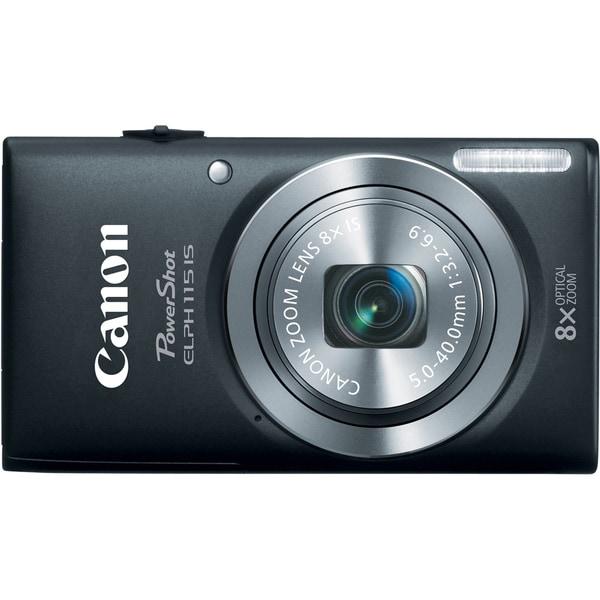 Canon PowerShot 115IS 16MP Black Digital Camera