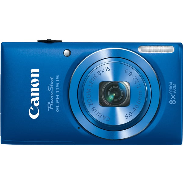 Canon PowerShot 115IS 16MP Blue Digital Camera