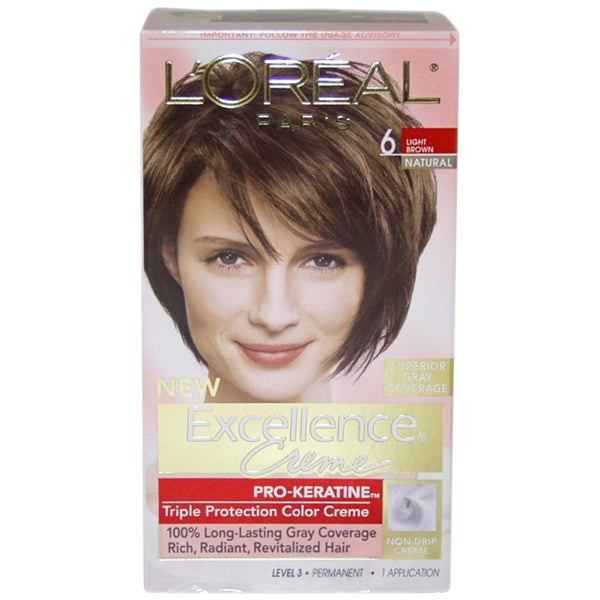 Loreal Excellence Creme Pro Keratine 6 Light Brown Natural Hair