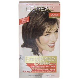 L'Oreal Excellence Creme Pro-Keratine #6A Light Ash Brown Cooler Hair Color