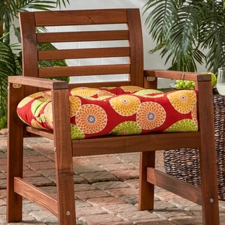 20-inch Outdoor Flowers on Red Chair Cushion