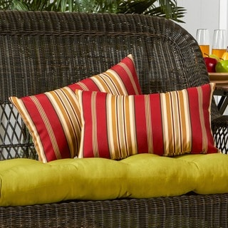 19x12-inch Rectangular Outdoor Roma Stripe  Accent Pillows (Set of 2)