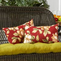 19x12-inch Rectangular Outdoor Roma Floral Accent Pillows (Set of 2) - 12h x 19l