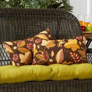 19x12-inch Rectangular Outdoor Timberland Floral Accent Pillows (Set of 2)