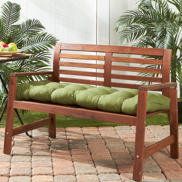 Porch Den Rosewood Graham 18 Inch X 51 Outdoor Green Bench