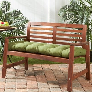 51-inch Outdoor Summerside Green Bench Cushion