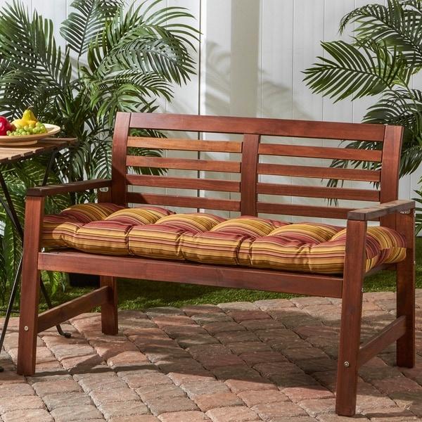 Havenside Home Dewey 18 Inch X 51 Outdoor Stripe Bench Cushion