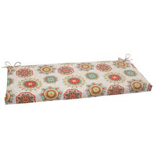 Pillow Perfect Outdoor Aqua Fairington Bench Cushion