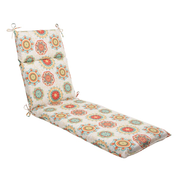 Pillow perfect outdoor fairington aqua chaise lounge for Aqua chaise lounge