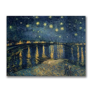 Vincent Van Gogh 'Starry Night Over the Rhone, 1888' Canvas Art