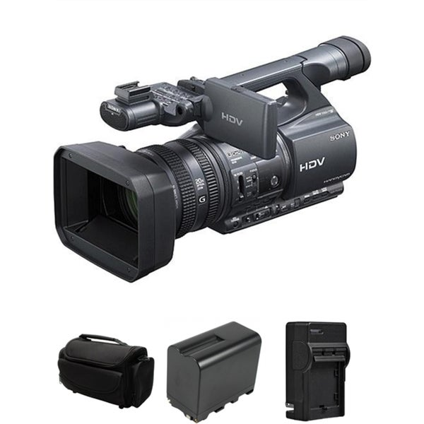 Sony HDR-FX1000 HD MiniDV (HDV) Handycam Camcorder Bundle