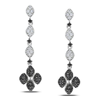 Miadora 14k Gold 1/2ct TDW Black and White Diamond Earrings (G-H, I1-I2)