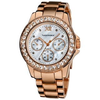 Vernier Ladies Dazzling Boyfriend Mother of Pearl Dial Faux-Chrono Bracelet Watch|https://ak1.ostkcdn.com/images/products/7858564/Vernier-Ladies-Dazzling-Boyfriend-Mother-of-Pearl-Dial-Faux-Chrono-Bracelet-Watch-P15244334.jpg?impolicy=medium