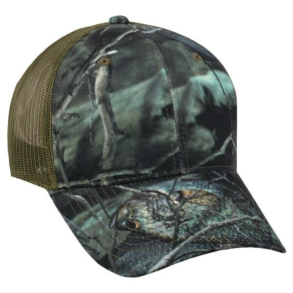 3ad60de793053 Shop Fishouflage Camo Crappie Mesh Back Adjustable Hat - Free ...