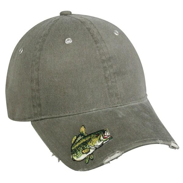 Bass Frayed Visor Embroidered Adjustable Hat
