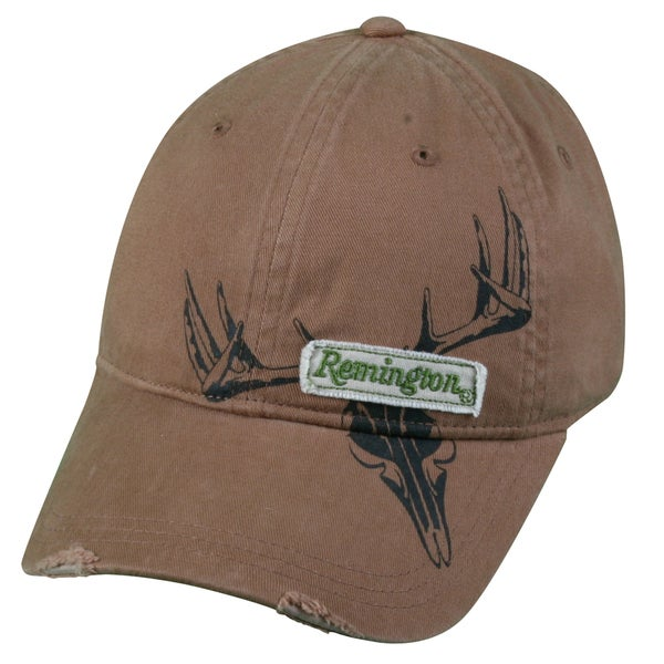Remington Deerskull Brown Frayed Hat