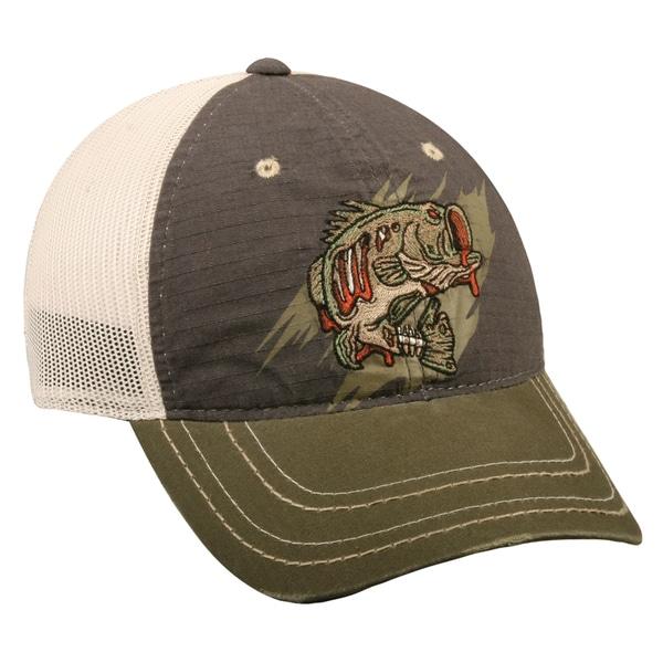 Zombie Bass Mesh Back Adjustable Fishing Hat