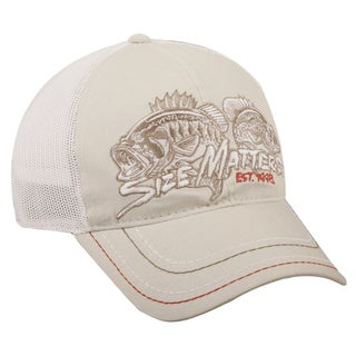 Size Matters Fishing White Mesh Back Adjustable Hat