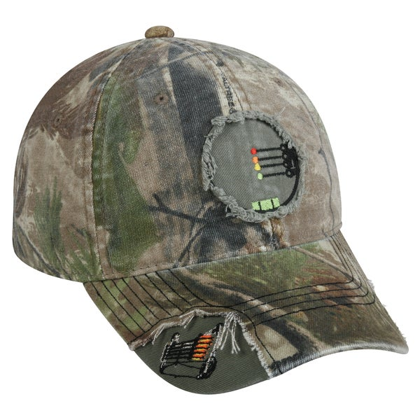 Realtree Bow Crosshairs Frayed Adjustable Hat