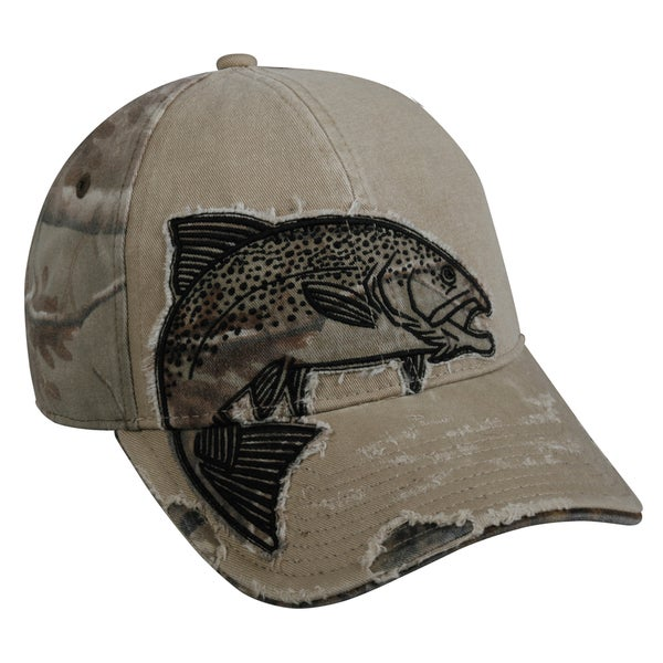 Trout Camo Patch Adjustable Fishing Hat