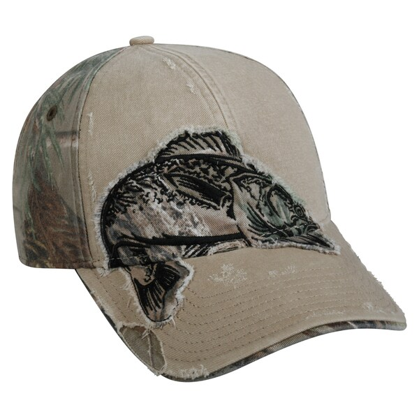 Walleye Camo Patch Adjustable Fishing Hat