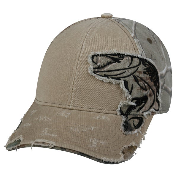 Pike Camo Patch Adjustable Fishing Hat