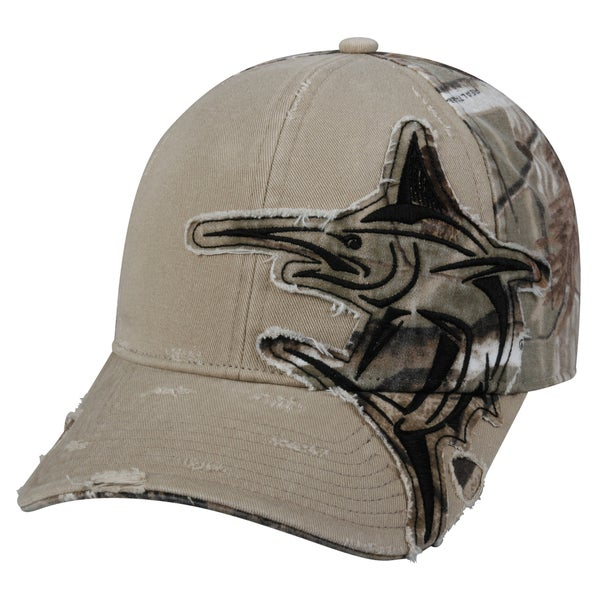 Marlin Camo Patch Adjustable Fishing Hat