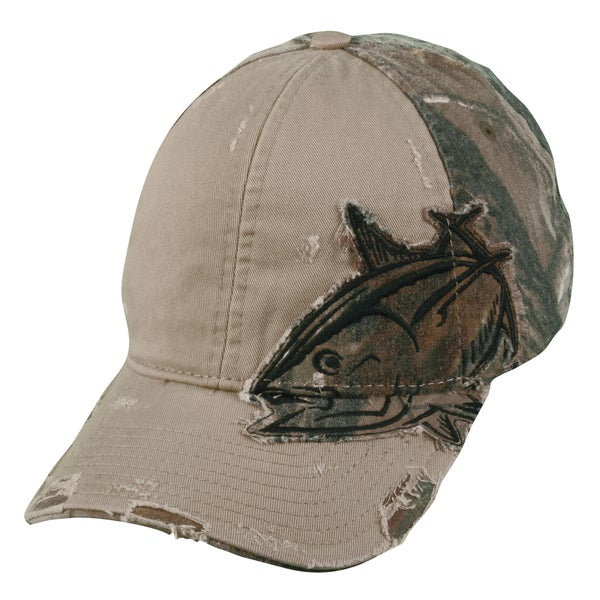 Tuna Camo Patch Adjustable Fishing Hat