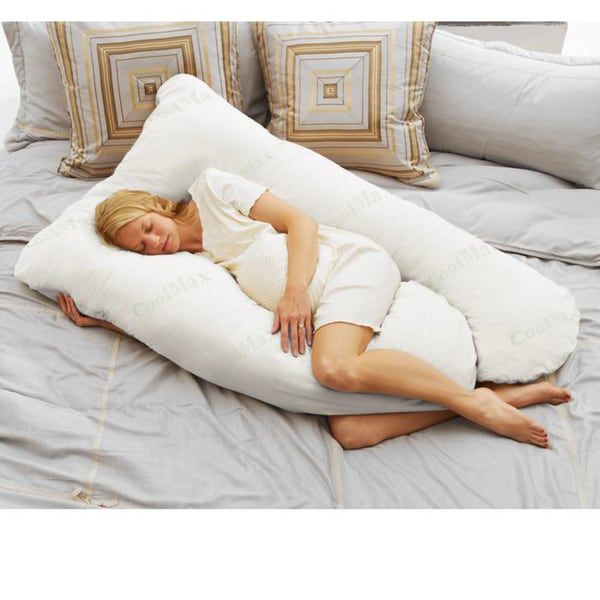Today's Mom COOLMAX White Pregnancy Pillow