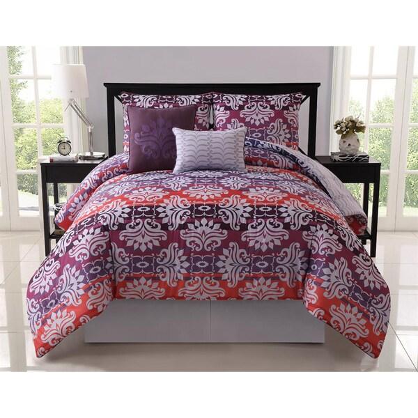 VCNY Addison Reversible 5-piece Comforter Set