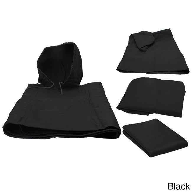 TrailWorthy 4-in-1 Blanket (Black) (Polyester, Solid Color)