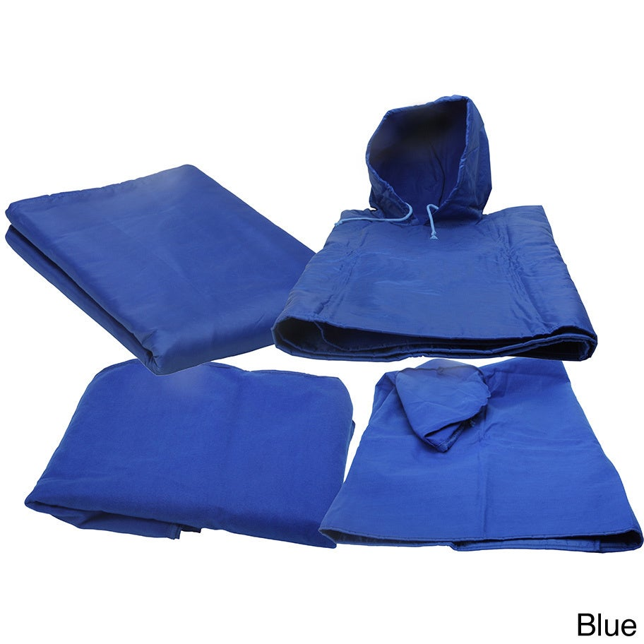 TrailWorthy 4-in-1 Blanket (Blue) (Polyester, Solid Color)